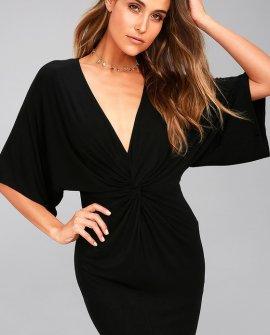 New Take Black Short Sleeve Dress