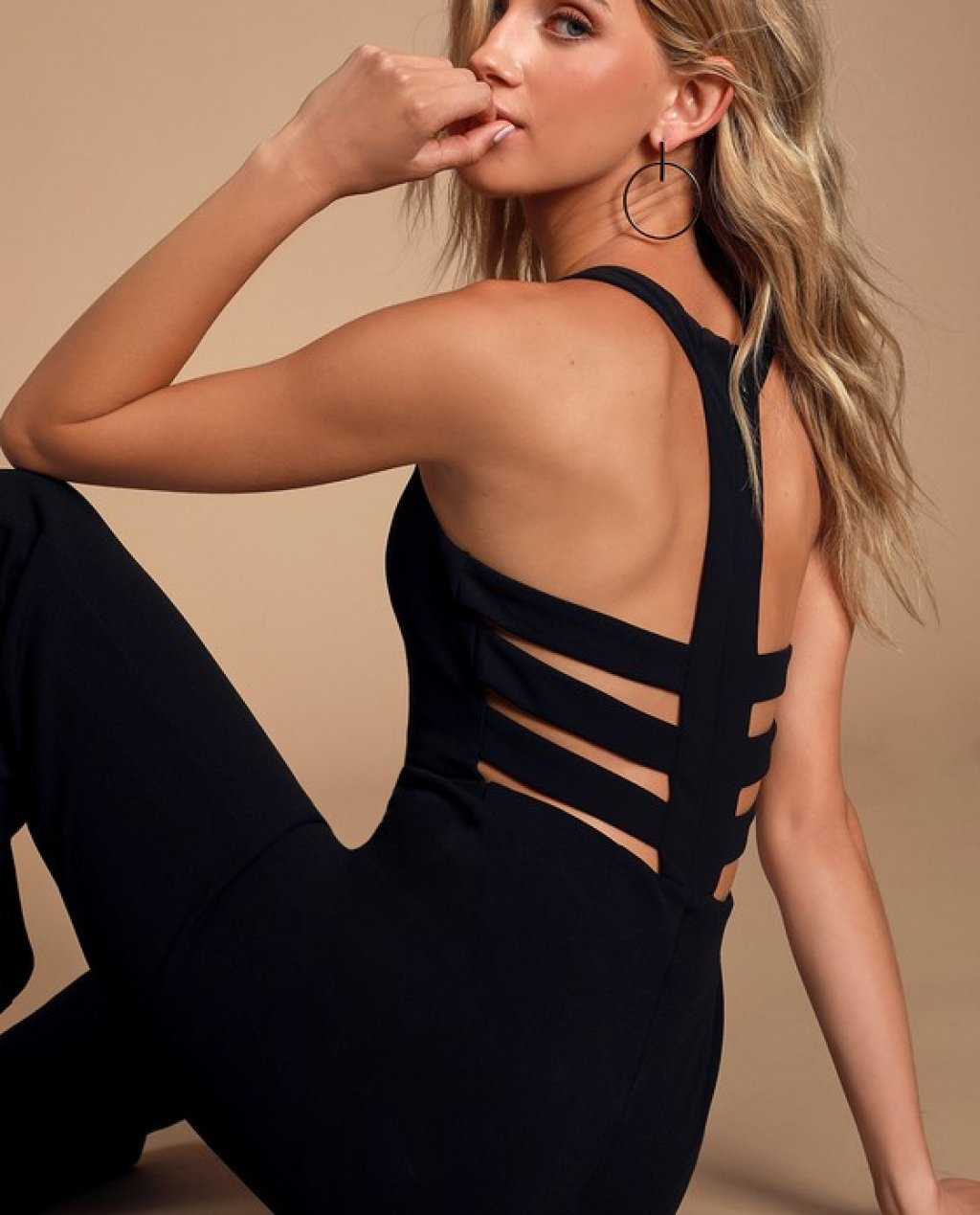 Night is Young Black Wide-Leg Backless Jumpsuit