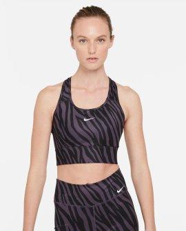 Nike Dri-FIT Swoosh Icon Clash Animal Print Medium-Support Sports Bra