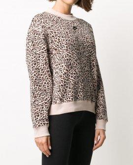 Nike animal-print branded sweatshirt