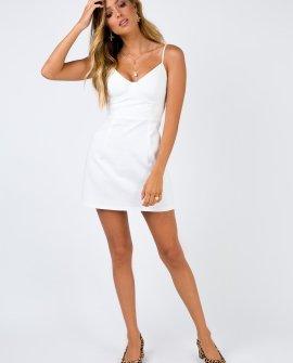 Novella White Mini Dress