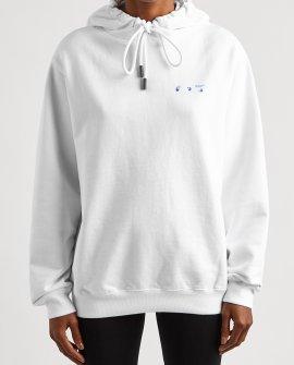 OFF-WHITE Flower Arrows hooded cotton sweatshirt