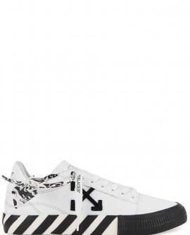 OFF-WHITE Low Vulcanized white canvas sneakers