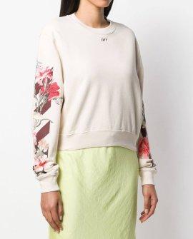 OFF-WHITE Nude Floral Motif Sweatshirt