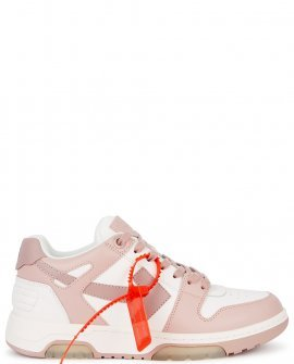 OFF-WHITE  Out of Office two-tone leather sneakers