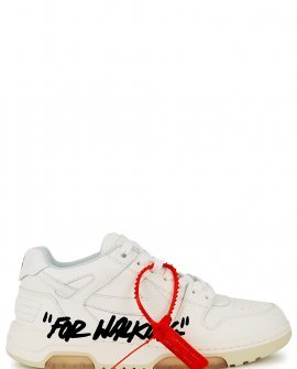 OFF-WHITE Out of Office white leather sneakers