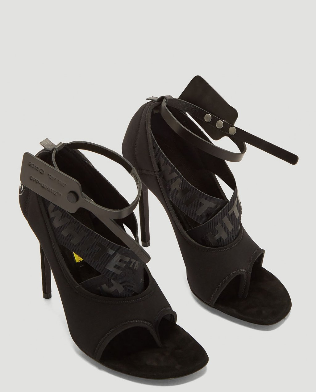 OFF-WHITE Yoga Stiletto Sandals in Black
