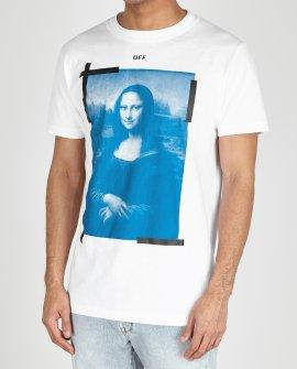 OFF White Mona Lisa Printed Cotton T-Shirt