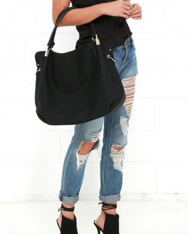 Ocean Cruise Black Handbag