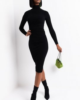 Olivia Ribbed Midi Dress