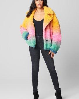Ombre Teddy Coat