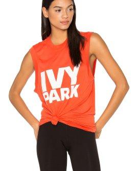 Orange Ivy Park Logo Tank