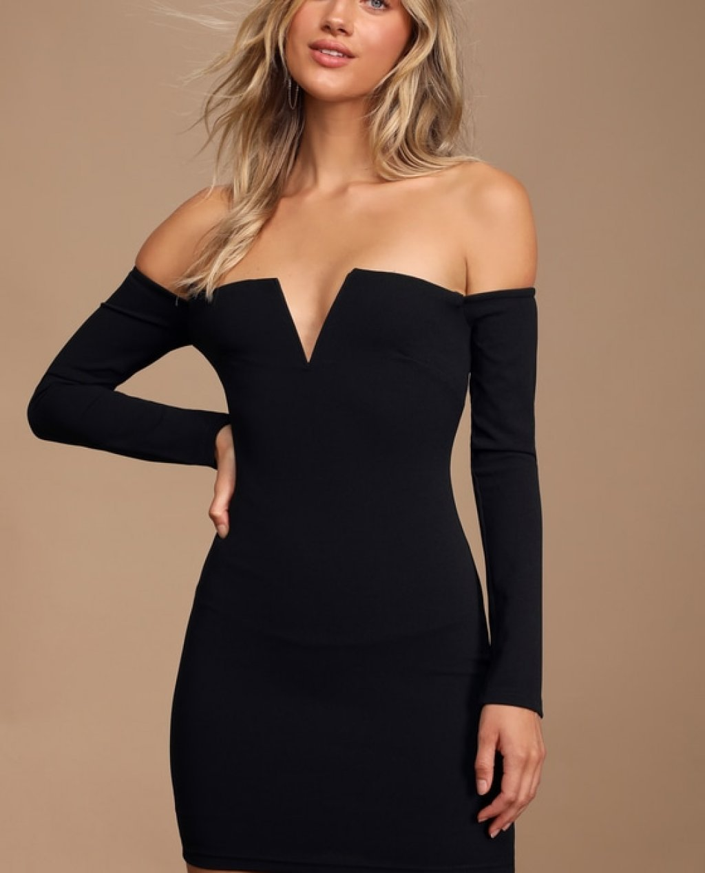 Black bodycon dress off the shoulder volleyball during the elizabethan