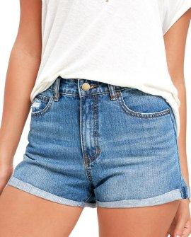 Overdrive Medium Wash Denim Shorts