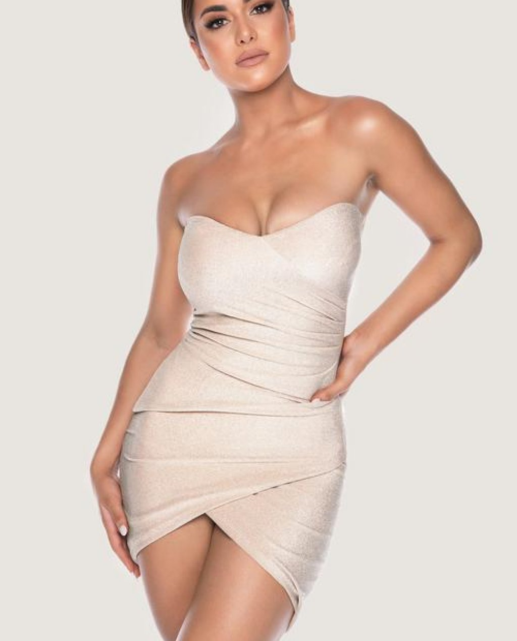 PALMA Strapless Wrap Dress