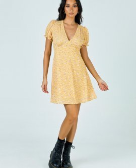 Paulo Mini Dress Yellow