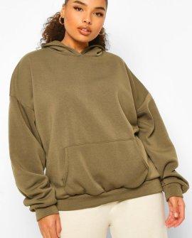 Plus Fleece Loopback Oversized Hoodie