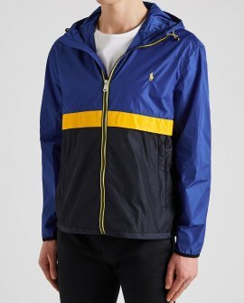 Polo Ralph Lauren Colour-blocked hooded shell jacket