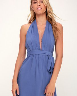 Positively Perfect Periwinkle Blue Wrap Dress
