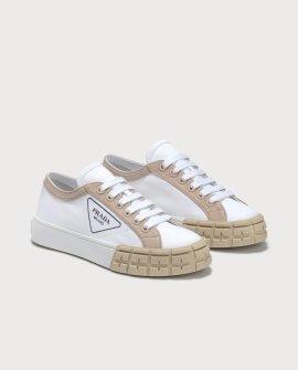 Prada Gabardine Bicolore Low Top Sneaker