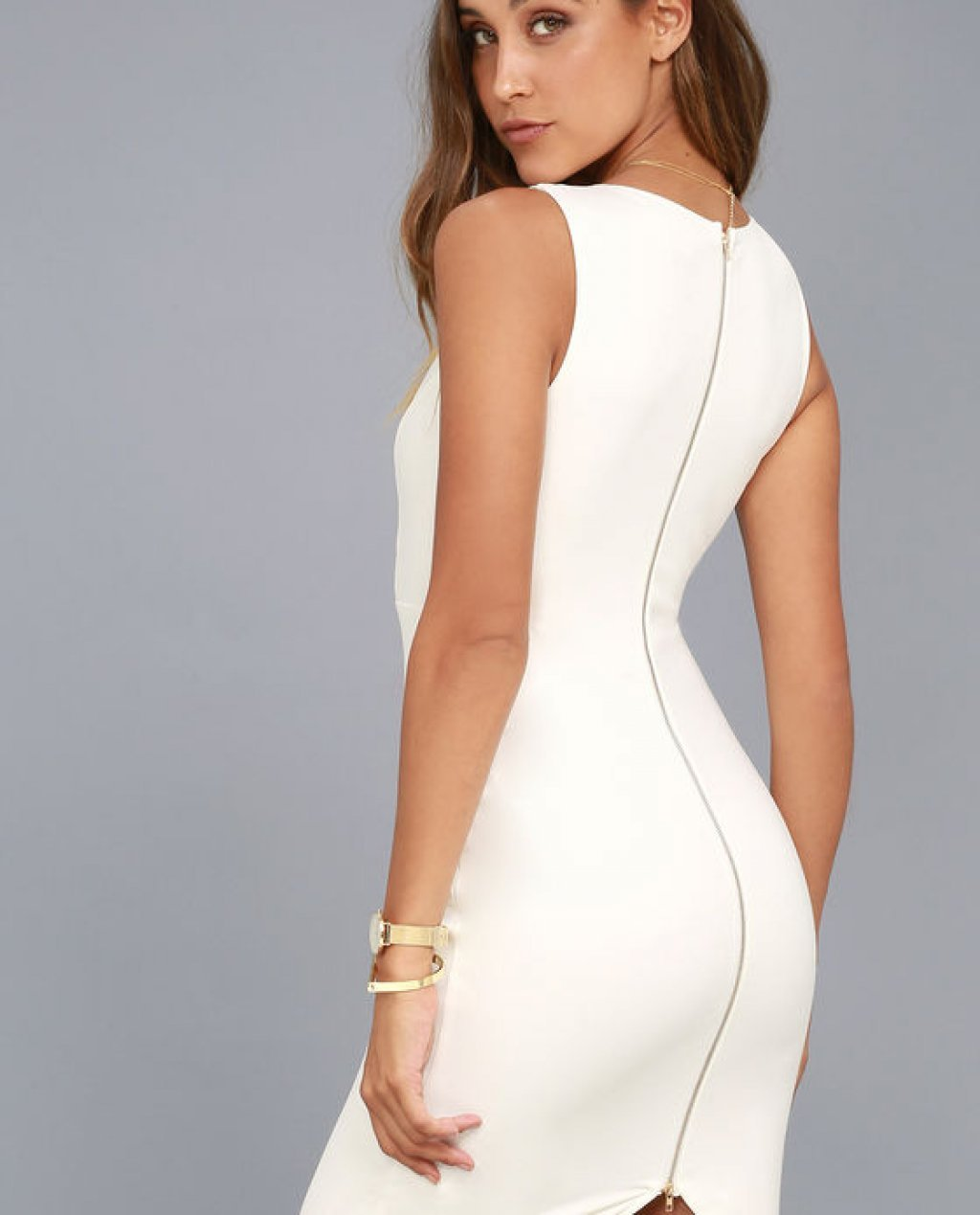 Quite Spectacular Ivory Bodycon Dress