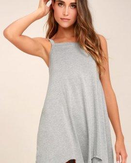 RVCA Thievery Heather Grey Dress
