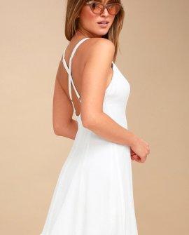 Rachel White Slip Dress