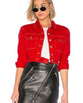 Red Cropped Jacket by KENDALL + KYLIE