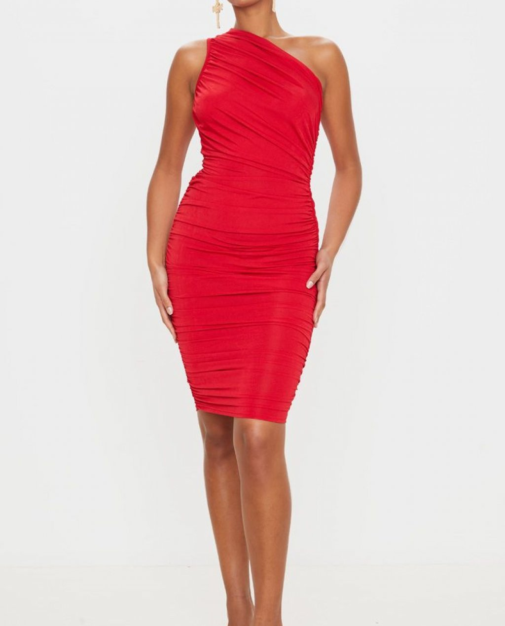 slinky ruched dress