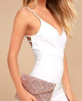 Rock Candy Rose Gold Sequin Clutch