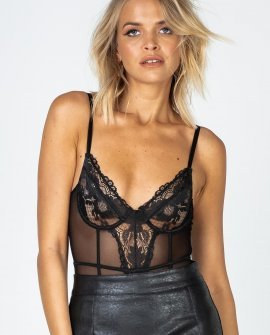 Rolla Black Lace Bodysuit