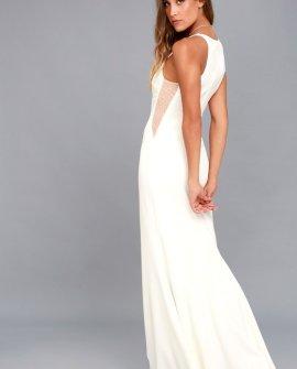 Romanticism White Maxi Dress