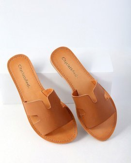 Ronnie Tan Slide Sandal Heels