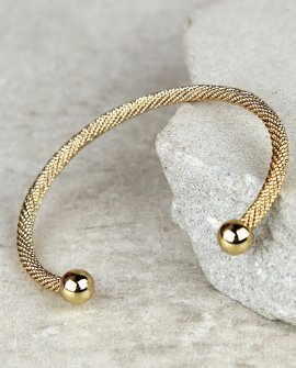 Round the Twist Gold Bracelet