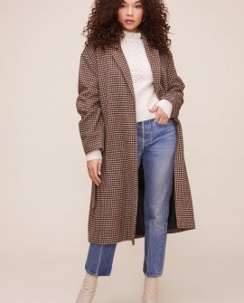 Roxanne Houndstooth Coat