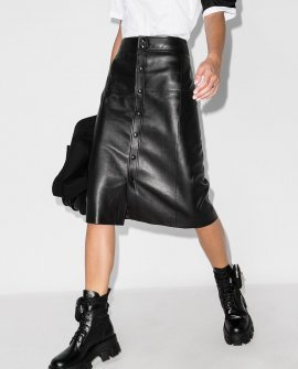 Saint Laurent A-line midi skirt