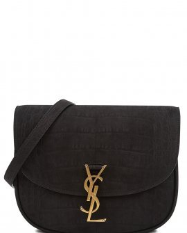 Saint Laurent Kaia medium crocodile-effect shoulder bag