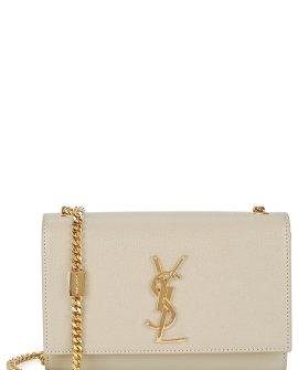 Saint Laurent Kate small cream leather shoulder bag