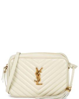 Saint Laurent Lou ivory leather cross-body bag