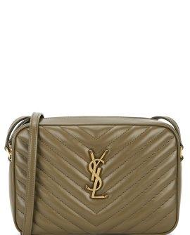 Saint Laurent Lou olive leather cross-body bag
