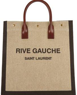 Saint Laurent Rive Gauche sand canvas tote