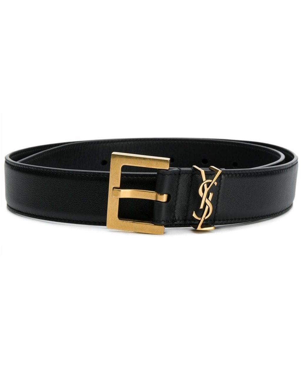 Saint Laurent  Ysl Plaque Buckle Belt