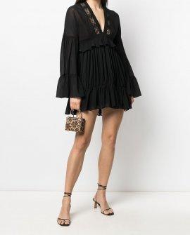 Saint Laurent ruffled mini dress