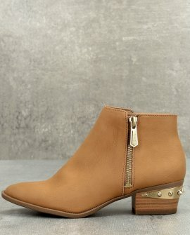 Sam Edelman Holt Golden Caramel Leather Ankle Booties