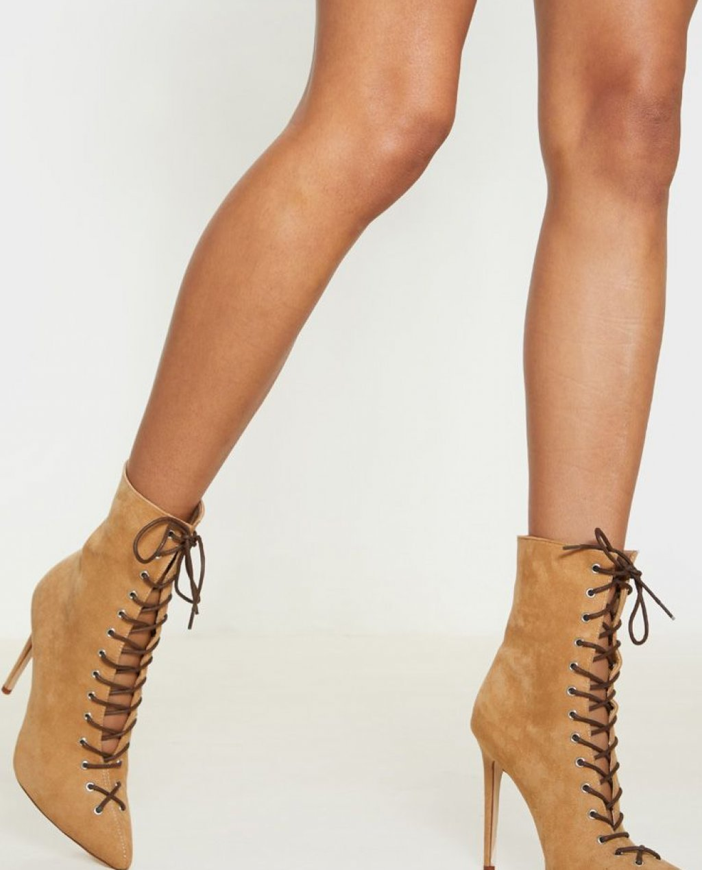 Sand Lace Up High Point Ankle Boot