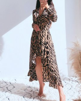 Sandie Wrap Maxi Dress in Tiger