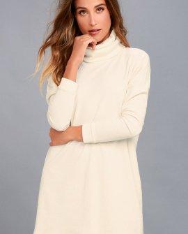 Scheme of Things Cream Long Sleeve Dress