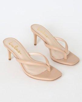 Scottie Nude High Heel Sandal Heels