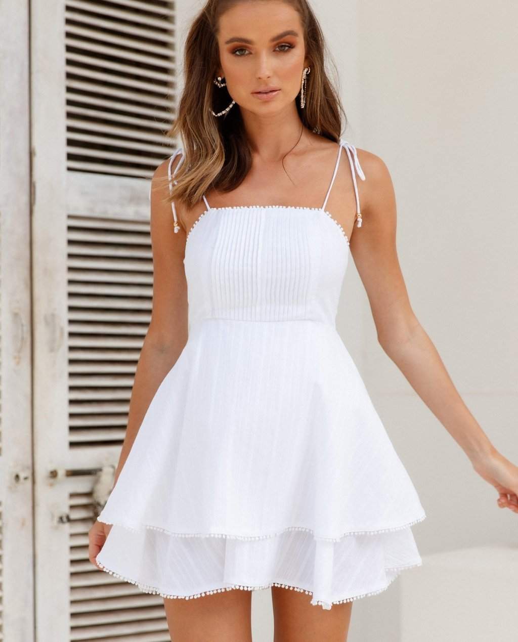 See All The Good Things Dress White
