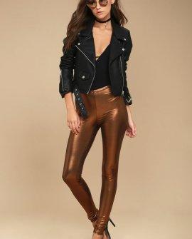 Shine Girl Copper Leggings